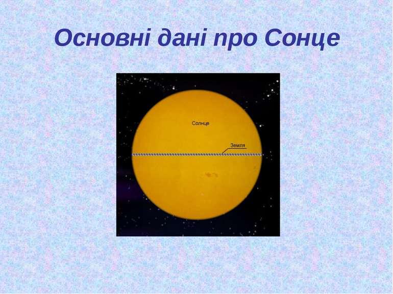 Основні дані про Сонце