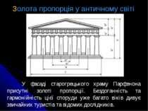 У фасаді старогрецького храму Парфенона присутні золоті пропорції. Бездоганні...