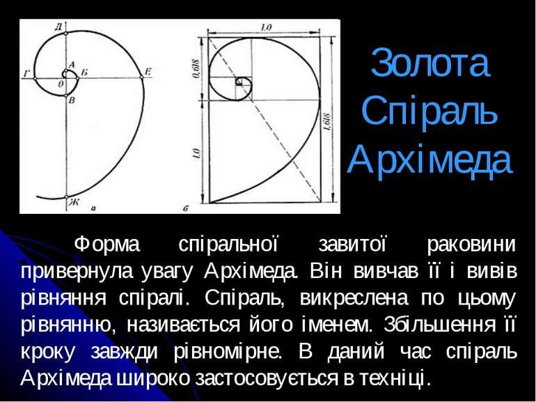 Золота Спіраль Архімеда Форма спіральної завитої раковини привернула увагу Ар...