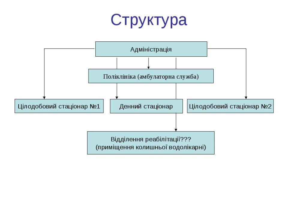 Структура Цілодобовий стаціонар №1