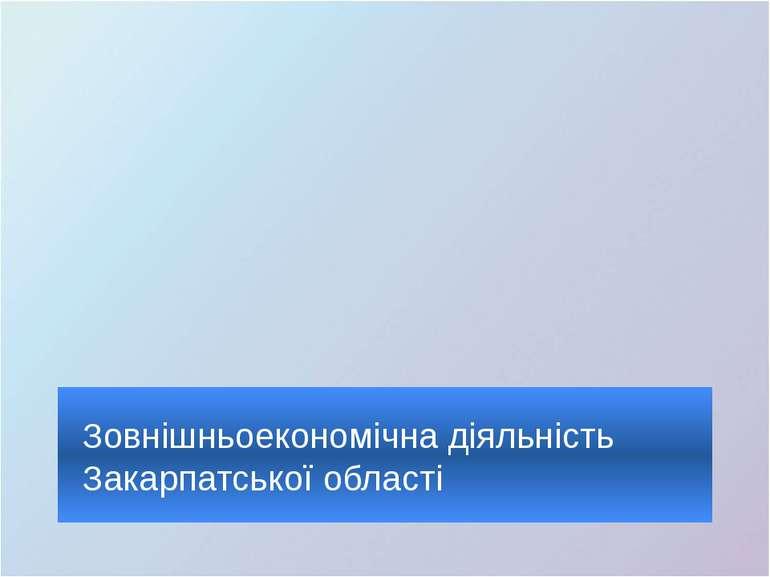 Зовнішньоекономічна діяльність Закарпатської області