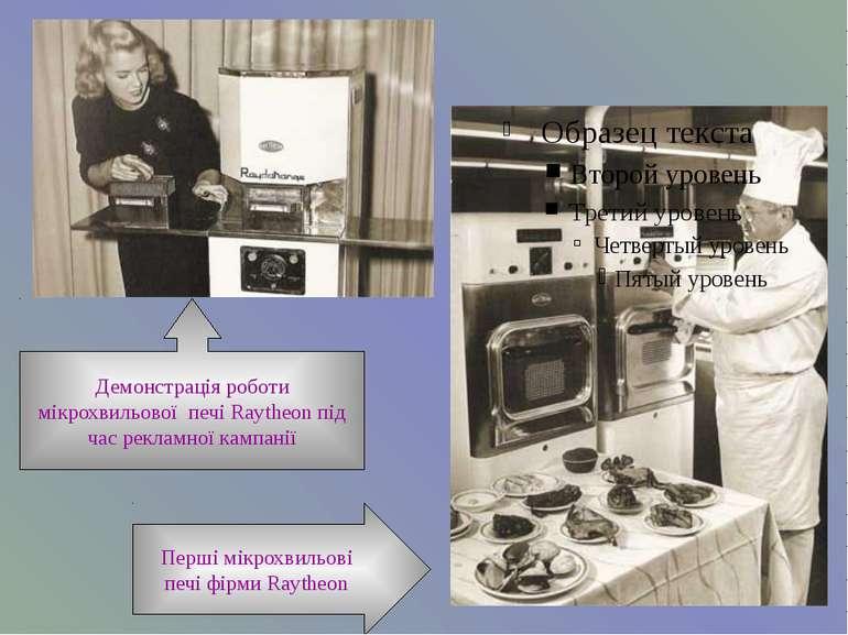 Демонстрація роботи мікрохвильової печі Raytheon під час рекламної кампанії П...