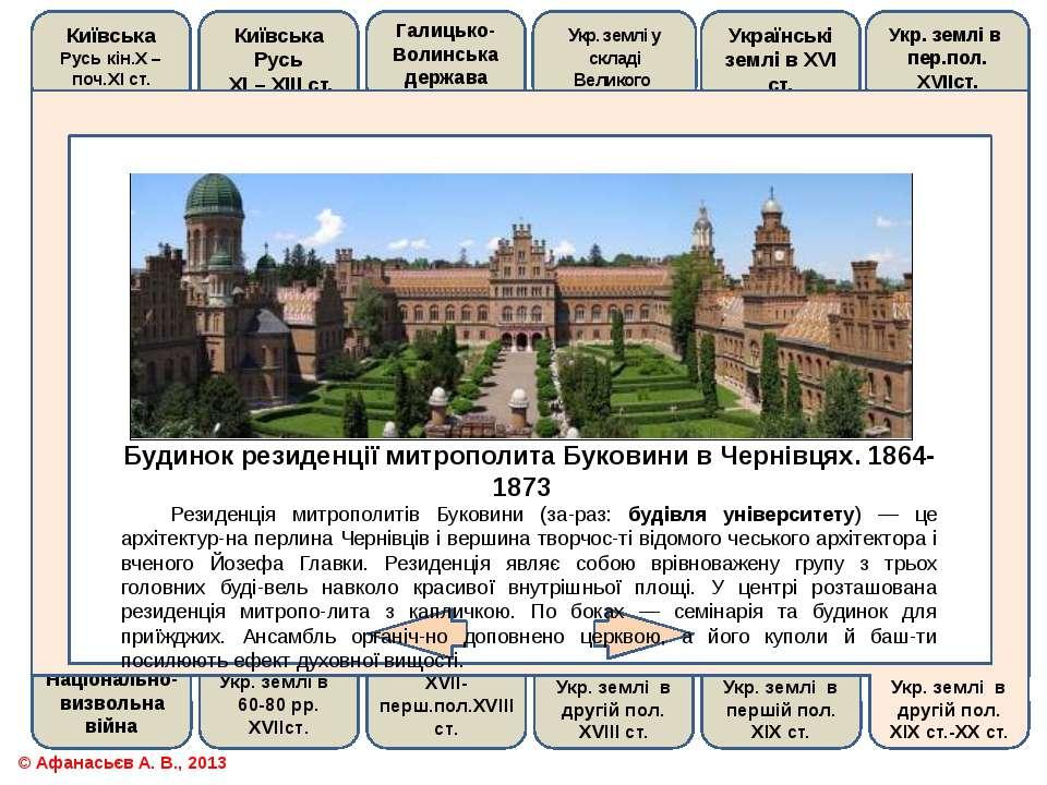 Будинок резиденції митрополита Буковини в Чернівцях. 1864-1873 Резиденція мит...