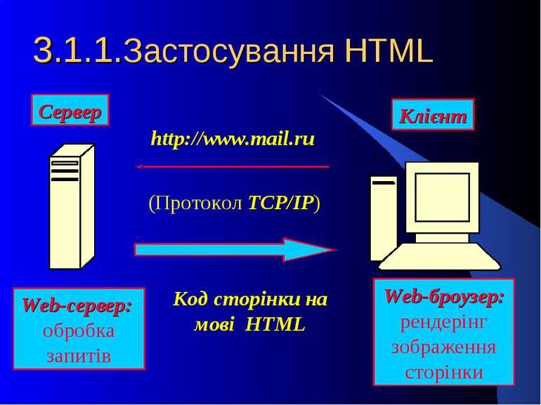 3.1.1.Застосування HTML Web-броузер: рендерінг зображення сторінки