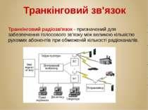 Транкінговий зв'язок Транкінговий радіозв'язок - призначений для забезпечення...