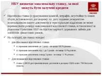 НБУ визначає максимальну ставку, за якої можуть бути залучені кредити Відсотк...