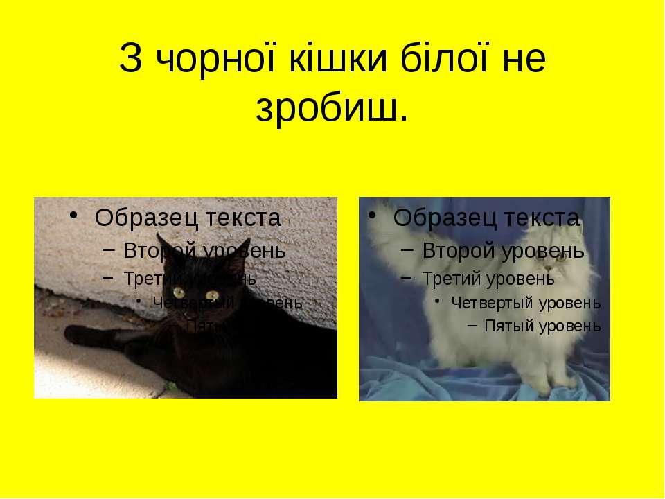 З чорної кішки білої не зробиш.