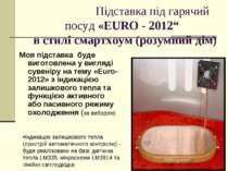 """Підставка під гарячий посуд «EURO - 2012"""" в стилі смартхоум (розумний дім) Мо..."""