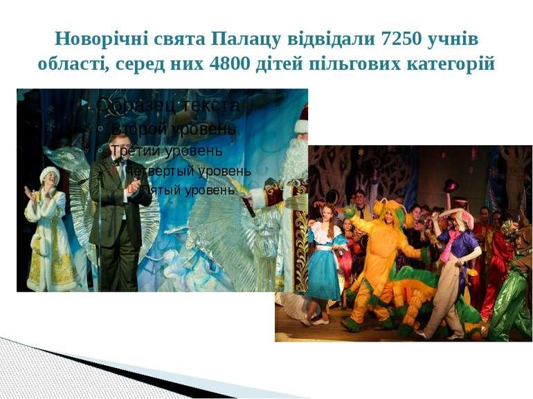 Новорічні свята Палацу відвідали 7250 учнів області, серед них 4800 дітей піл...