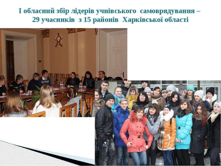 І обласний збір лідерів учнівського самоврядування – 29 учасників з 15 районі...