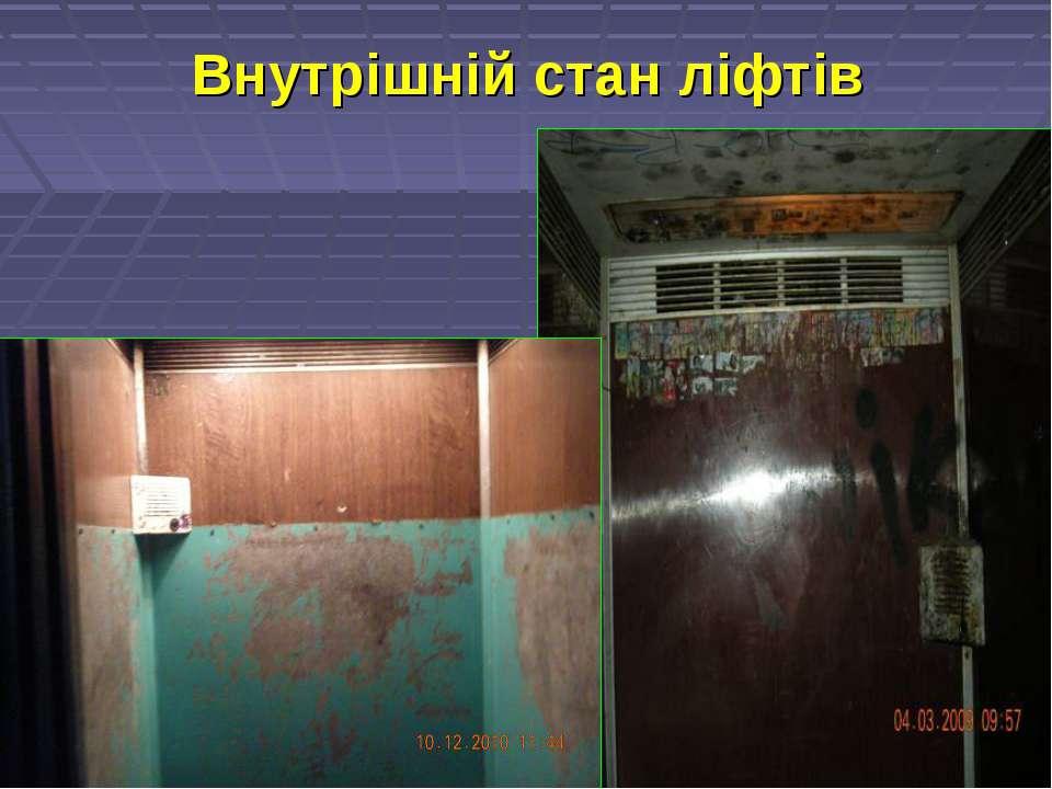 Внутрішній стан ліфтів