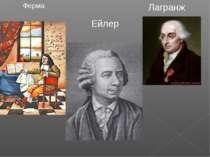Лагранж Ферма Ейлер