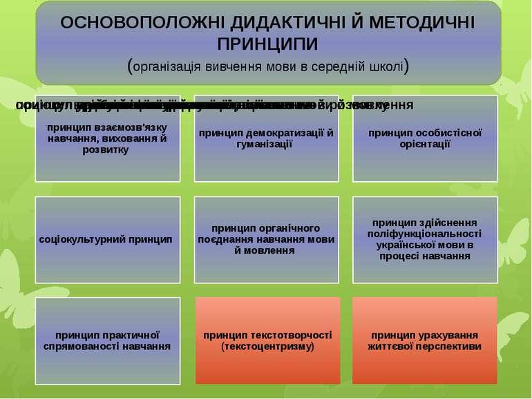 ОСНОВОПОЛОЖНІ ДИДАКТИЧНІ Й МЕТОДИЧНІ ПРИНЦИПИ (організація вивчення мови в се...