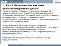 Крок 2. Визначення базових даних * Пріоритетні напрями планування Визначити ф...