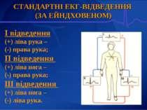 СТАНДАРТНІ ЕКГ-ВІДВЕДЕННЯ (ЗА ЕЙНДХОВЕНОМ) I відведення (+) ліва рука – (-) п...