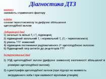 Діагностика ДТЗ анамнез наявність сприяючого фактору клініка ознаки тиреотокс...