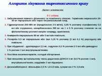 Алгоритм лікування тиреотоксичного кризу Діагноз встановлено 0-1 година 1. За...