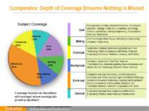 Compendex: Depth of Coverage Ensures Nothing is Missed Engineering Management...