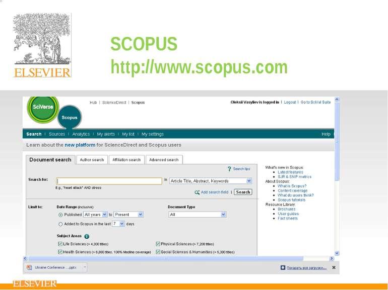 SCOPUS http://www.scopus.com