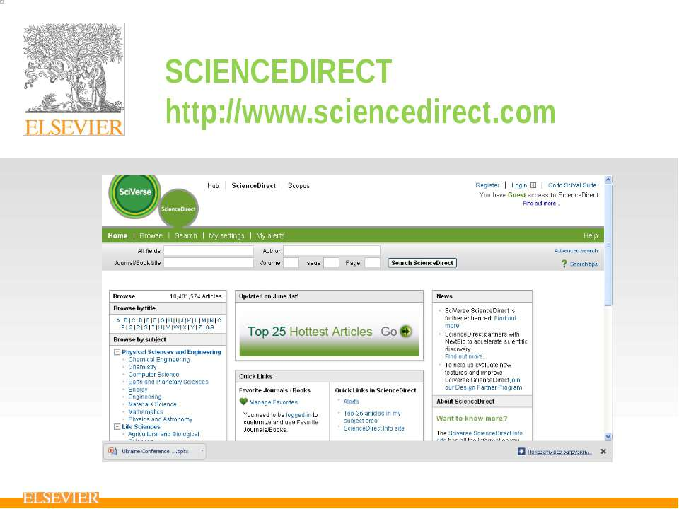 SCIENCEDIRECT http://www.sciencedirect.com