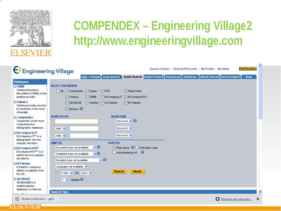 COMPENDEX – Engineering Village2 http://www.engineeringvillage.com