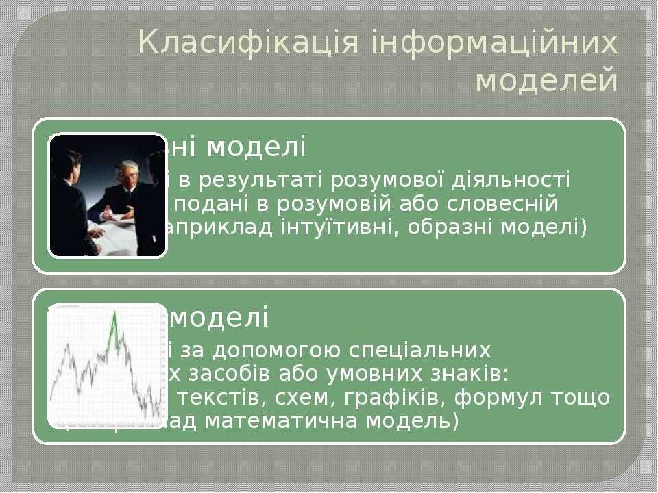 Класифікація інформаційних моделей