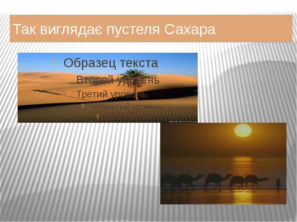 Так виглядає пустеля Сахара