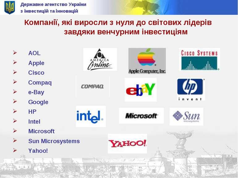 Державне агентство України з інвестицій та інновацій Компанії, які виросли з ...