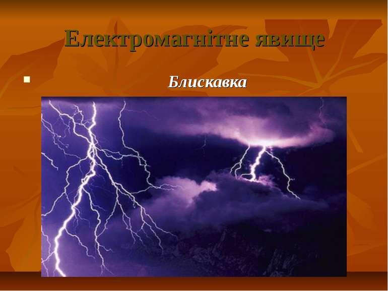 Електромагнітне явище Блискавка