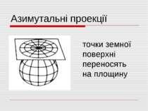 Азимутальні проекції точки земної поверхні переносять на площину
