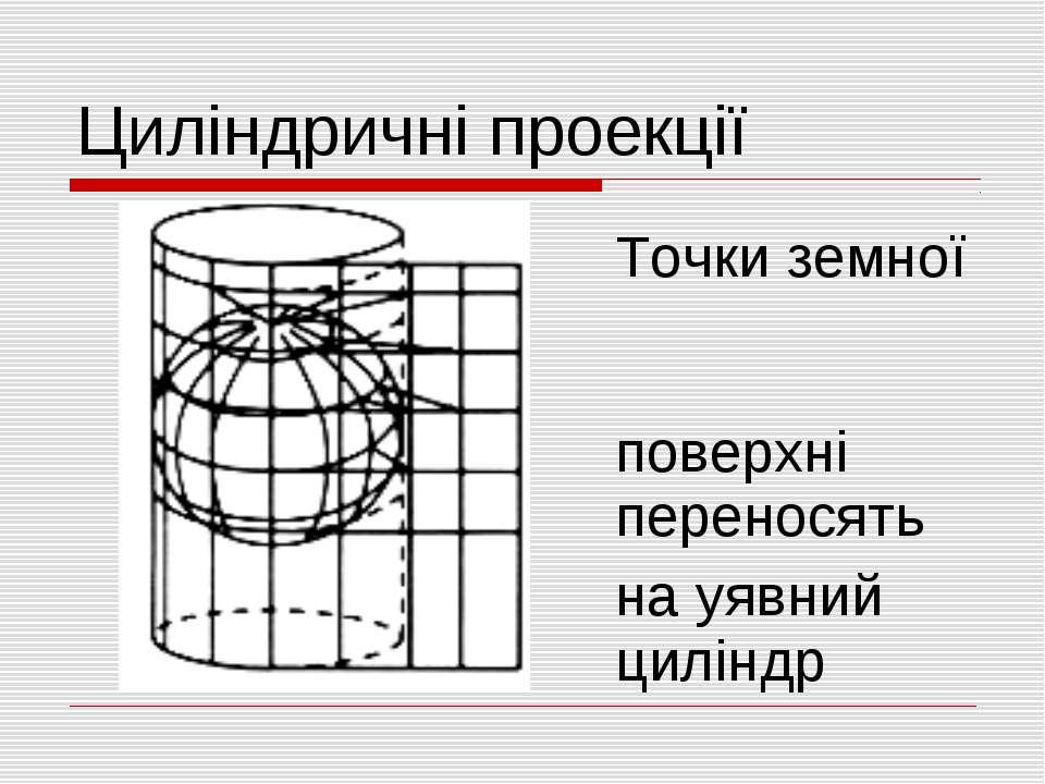 Циліндричні проекції