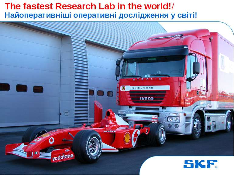 October 30, 2007 © SKF Group Slide * The fastest Research Lab in the world!/ ...