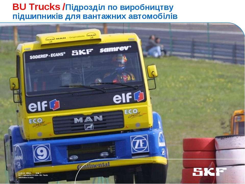 October 30, 2007 © SKF Group Slide * * ©SKF Slide 7 SKF / Automotive Division...