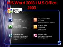 MS Word 2003 і MS Office 2003 *