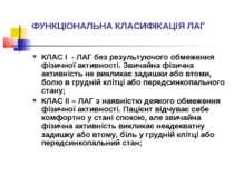 ФУНКЦІОНАЛЬНА КЛАСИФІКАЦІЯ ЛАГ КЛАС І - ЛАГ без результуючого обмеження фізич...