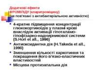 Додаткові ефекти ФРОМІЛІДУ (кларитроміцину) (не пов'язані з антибактеріальною...