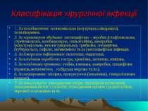 Класифікація хірургічної інфекції 1. За походженням: нозокоміальна (внутрішнь...