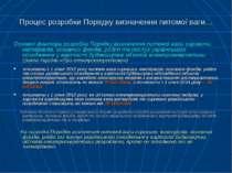 Процес розробки Порядку визначення питомої ваги… Основні фактори розробки Пор...