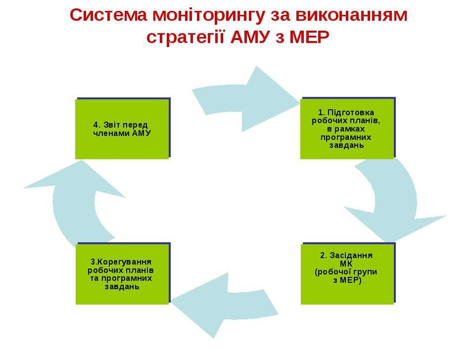Система моніторингу за виконанням стратегії АМУ з МЕР