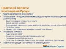 Практичні Аспекти Інвестиційний Процес Аналіз компанії і бізнес-плану Перегов...