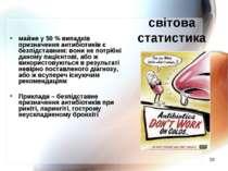 * світова статистика майже у 50 % випадків призначення антибіотиків є безпідс...