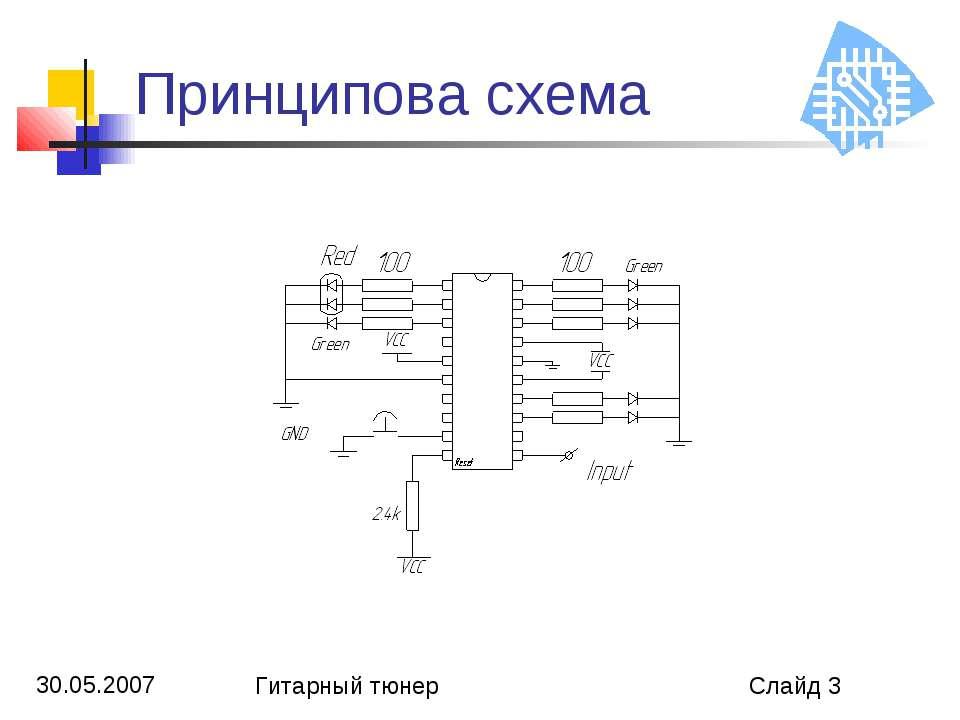 Принципова схема Гитарный тюнер