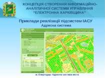 * м. Енергодар: Адресна система міста Приклади реалізації підсистем ІАСУ Адре...