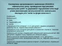Експертиза організованого закінчення 2010/2011 навчального року, проведення п...