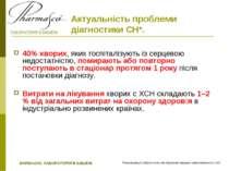Актуальність проблеми діагностики СН*. 40% хворих, яких госпіталізують із сер...