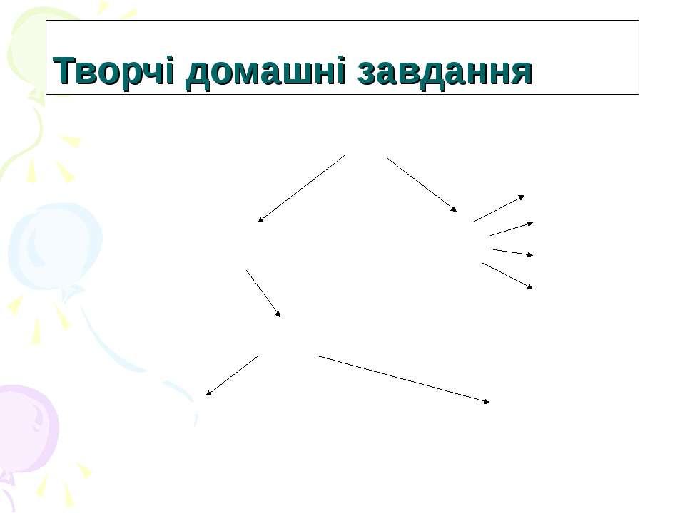 Творчі домашні завдання