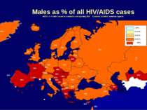Males as % of all HIV/AIDS cases NOTE: % of AIDS cases in countries not repor...