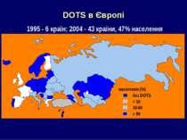 DOTS в Європі 1995 - 6 країн; 2004 - 43 країни, 47% населення