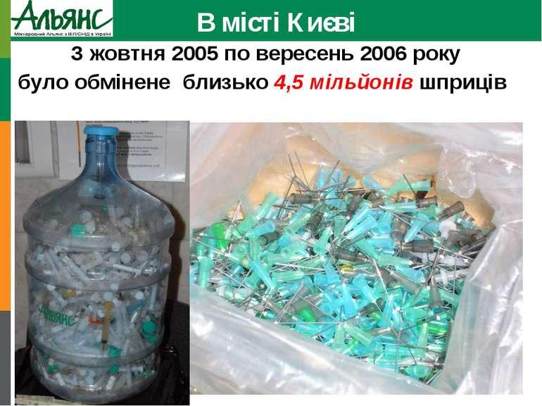 В місті Києві З жовтня 2005 по вересень 2006 року було обмінене близько 4,5 м...