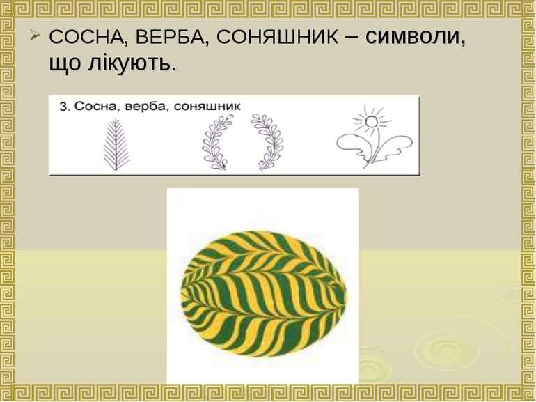 СОСНА, ВЕРБА, СОНЯШНИК – символи, що лікують.